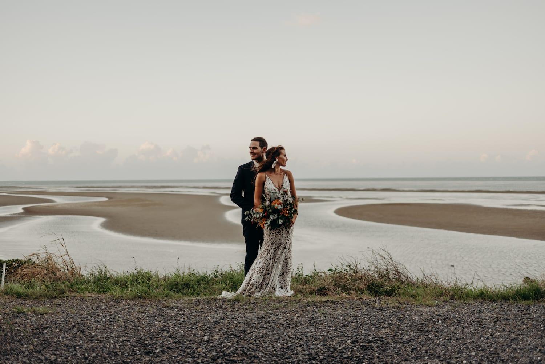 Port Douglas Wedding couple looking over ocean views
